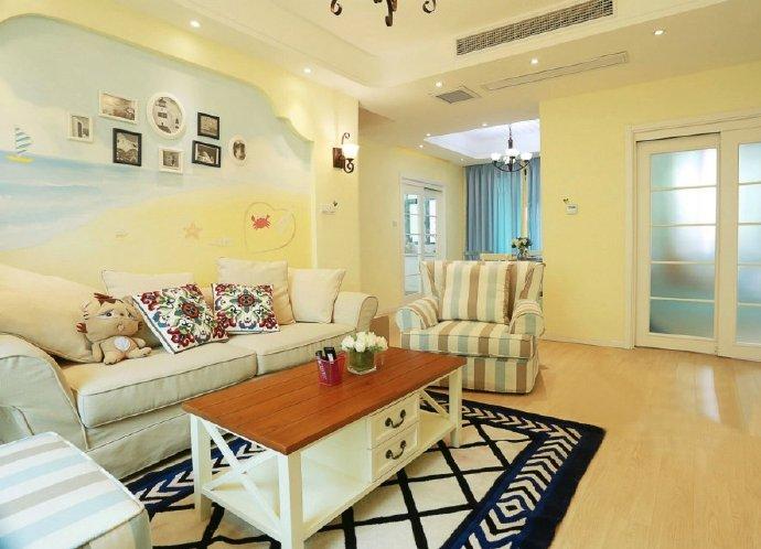 地中海风格-126平米三居室-装修样板间
