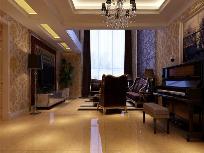 新古典风格-260平米别墅-装修样板间