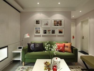 现代简约-88.87平米二居室装修样板间