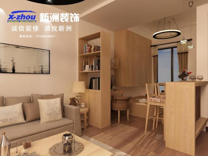 现代简约-54.4平米一居室-装修样板间