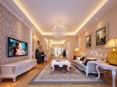 法式-129平米三居室装修设计