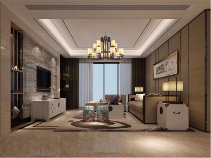 新古典风格-97平米二居室-装修样板间