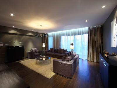 范梓-后现代风格-160平米三居室装修样板间
