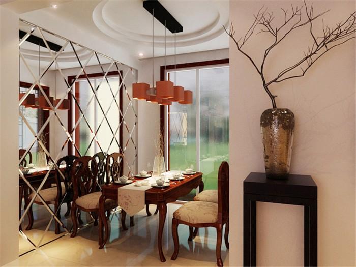 中式古典-126平米三居室-装修样板间