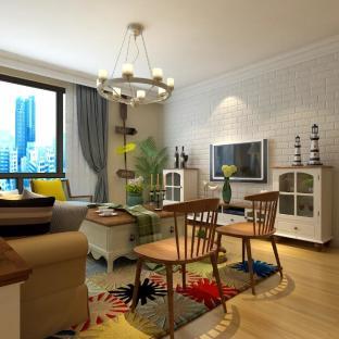 简约美式风格三居室装修效果图
