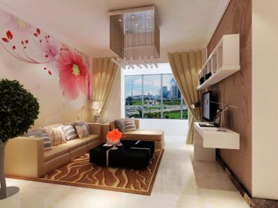 日韩风格-115平米三居室装修样板间