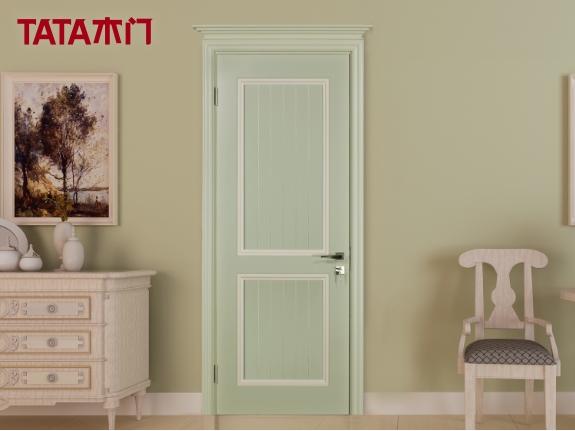 TATA木门 油漆门 法国灰加米白套色 JO-015