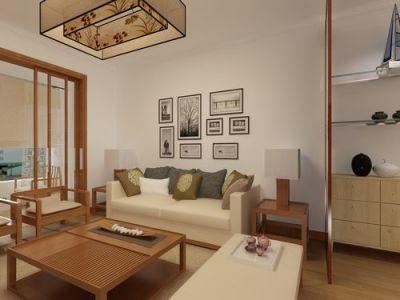 西式古典-80平米二居室装修样板间