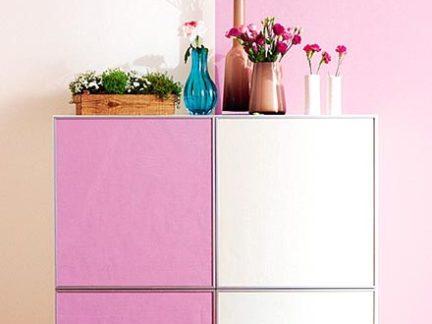 简约风格粉色浪漫客厅壁纸装修实景图