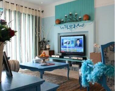 地中海风格-78平米二居室装修样板间