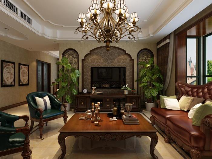 西式古典-142.3平米三居室-装修样板间