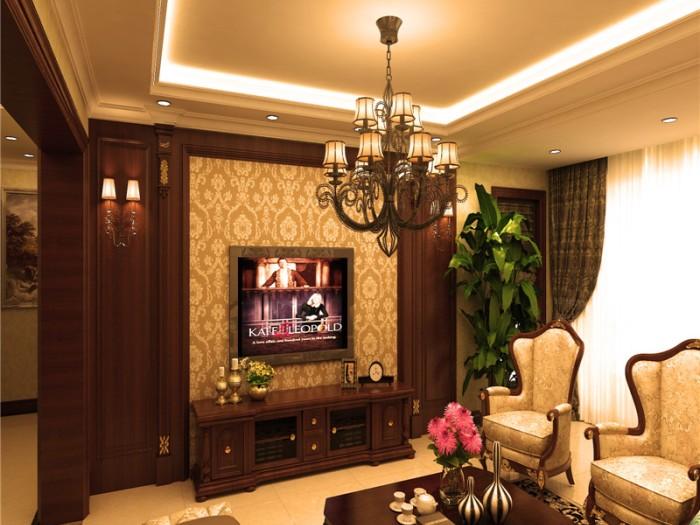 欧美风情-142平米三居室-装修样板间