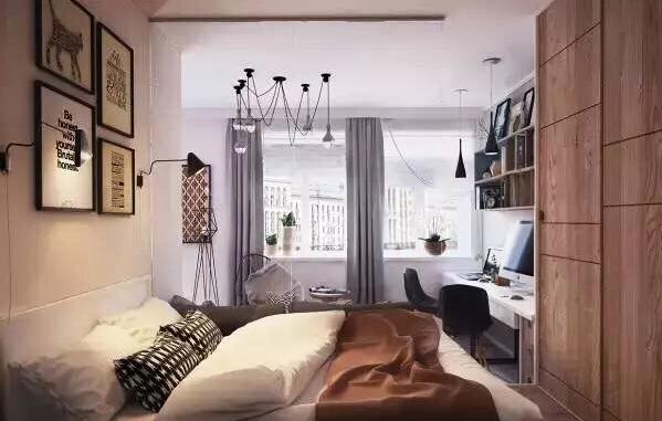 现代简约-56平米一居室-装修样板间