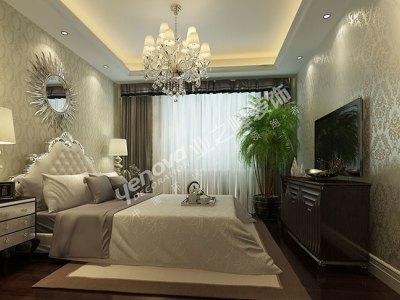 欧美风情-117平米二居室装修样板间