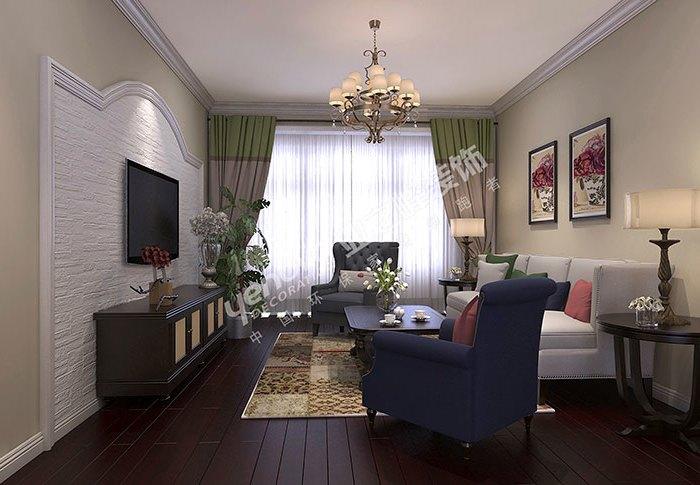 日韩风格-98平米二居室-装修样板间