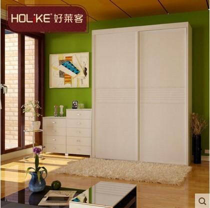 好莱客整体衣柜全屋定制通花移门衣柜 组合衣柜定制衣橱木衣柜