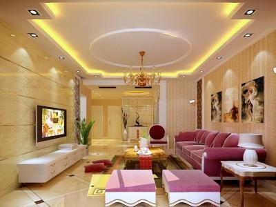 东南亚风格-111.93平米三居室装修样板间