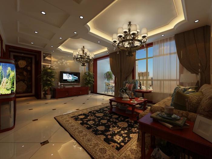 西式古典-121平米三居室-装修样板间