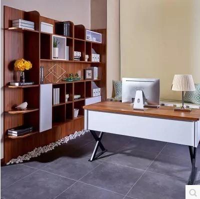 好莱客书房家具定制 组合书柜书桌椅收纳柜办公桌飘窗组合定制