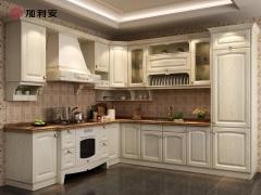 加利安整体橱柜 欧式实木橱柜全屋定制 厨房橱柜定做