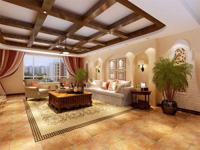 西式古典-120平米三居室装修样板间