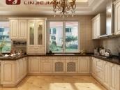 重庆临界家具定制整体厨房模压欧式橱柜