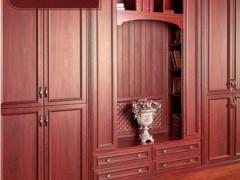 好莱客凯撒红系列 定制转角古典衣帽间家具设计方案