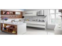 海尔整体橱柜 烤漆系列6120 白色隐形拉手款式图片