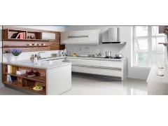 海尔整体橱柜 烤漆系列6120 白色隐形拉手款式