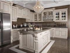 海尔整体橱柜 实木橱柜定做美式风格 3米套餐15000