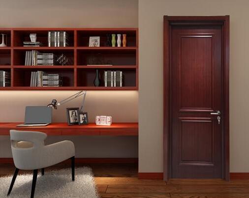 创艺门业室内实木复合油漆定制门浪漫田园室内门