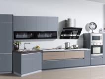 海尔整体橱柜 高品质铝制型材PET门板环保材质图片