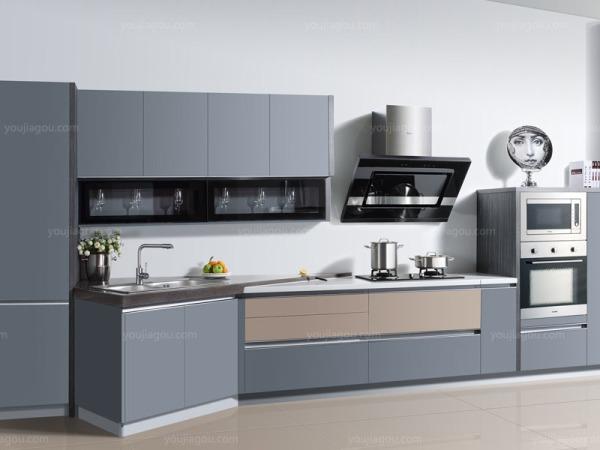 海尔整体橱柜 高品质铝制型材PET门板环保材质