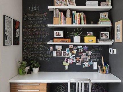 设计合理现代风格黑色书房装修实景图