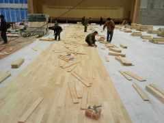 枫木运动实木地板体育地板舞台篮球场羽毛球场