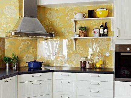 简欧风格时尚厨房橱柜装修实景图