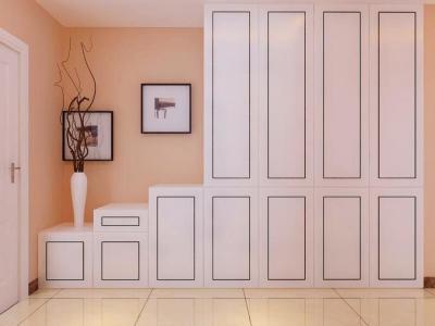 现代简约-91.41平米二居室装修样板间