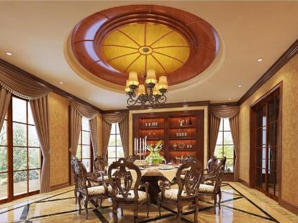 别墅餐厅美式装修风格样板房