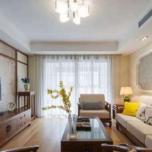 新中式风格二居室装修效果图