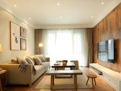 日韩风格-74平米二居室装修样板间