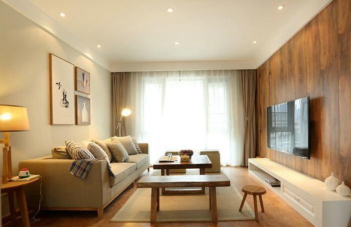 日韩风格-74平米二居室-装修样板间
