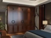 加利安 赤杨木整体衣柜 实木衣柜 卧室组合衣柜