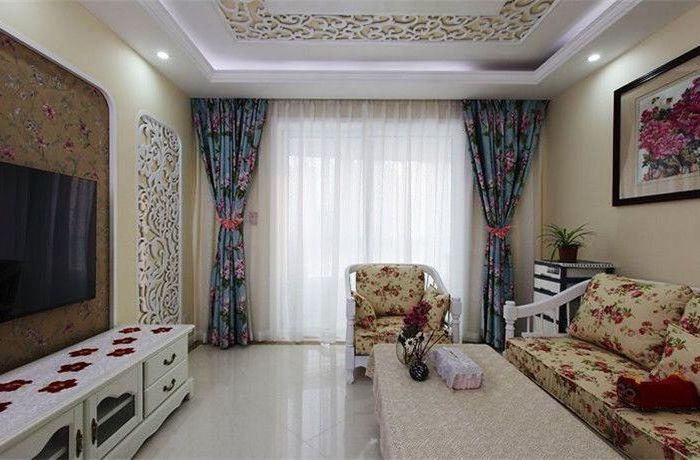 田园风格-111.09平米三居室-装修样板间