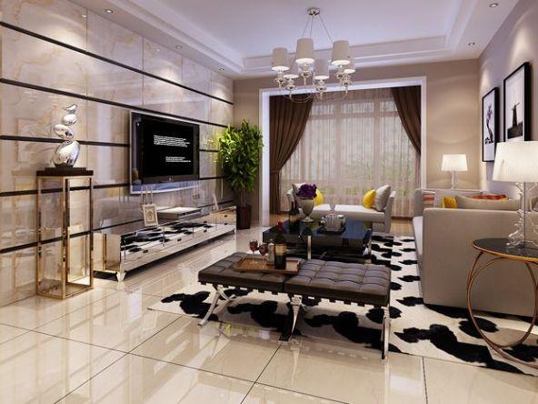 业主强调喜欢现代感强的但又不繁琐的现代风格,定位于黑白灰为主色系。