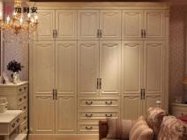加利安欧式大衣柜 整体实木大衣柜全屋定制图片