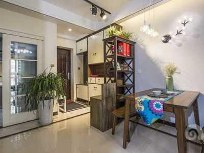 混搭风格-107.01平米三居室装修样板间