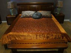 金思达家具A86010柚木实木床
