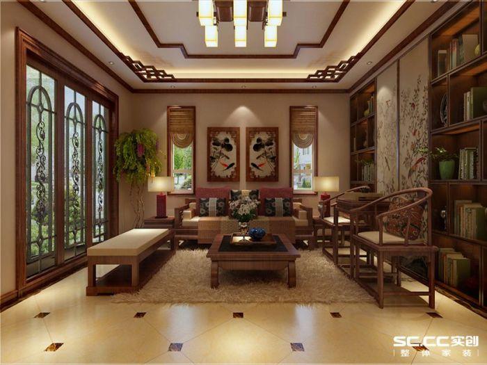 中式古典-316平米别墅-装修样板间