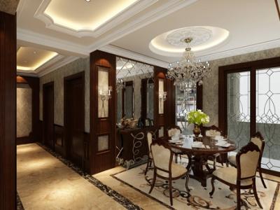 欧式风格-153.27平米三居室装修样板间