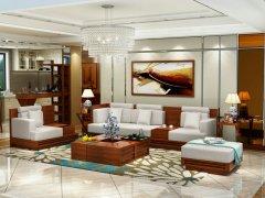 三木印象东南亚风格实木客厅沙发组合槟榔家具